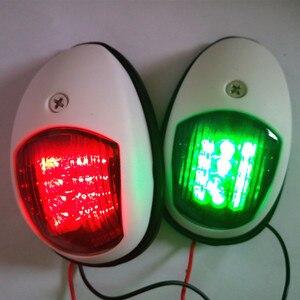 Image 3 - 1 คู่สีแดงพอร์ตสีเขียว/Starboard Light 12 V Marine เรือ Yacht LED Navigation Light Sailing สัญญาณ