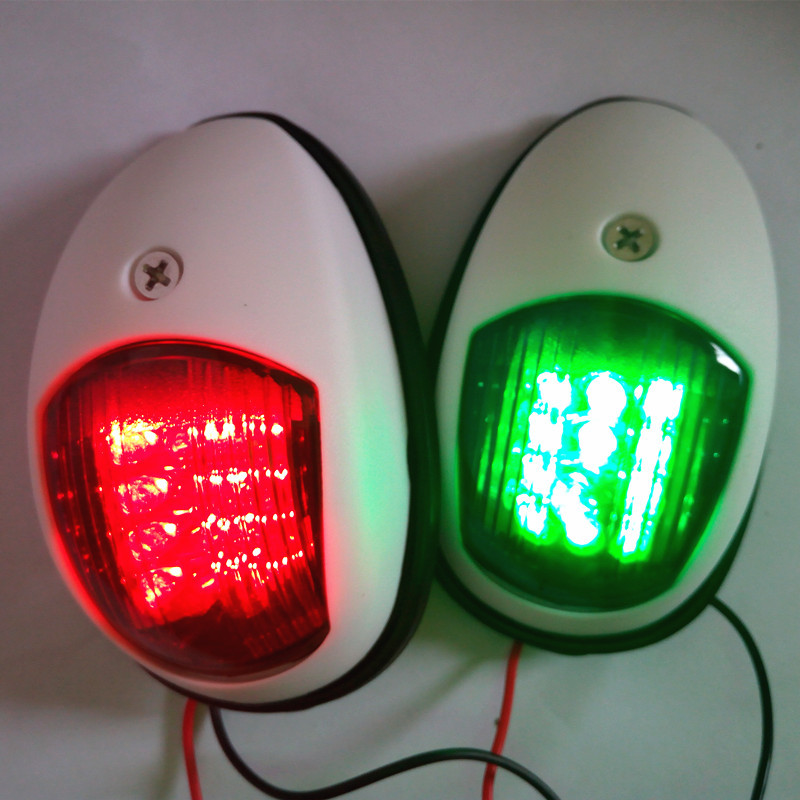 Image 3 - 1Pair Red Green Port/Starboard Light 12V Marine Boat Yacht LED Navigation Light Sailing Signal Lamp-in Marine Hardware from Automobiles & Motorcycles