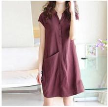 2016Summer Maternity Clothes Casual Cotton Dress Pregnancy Clothing Loose Short Dress For Pregnant Women 3Colors Elegant Costume