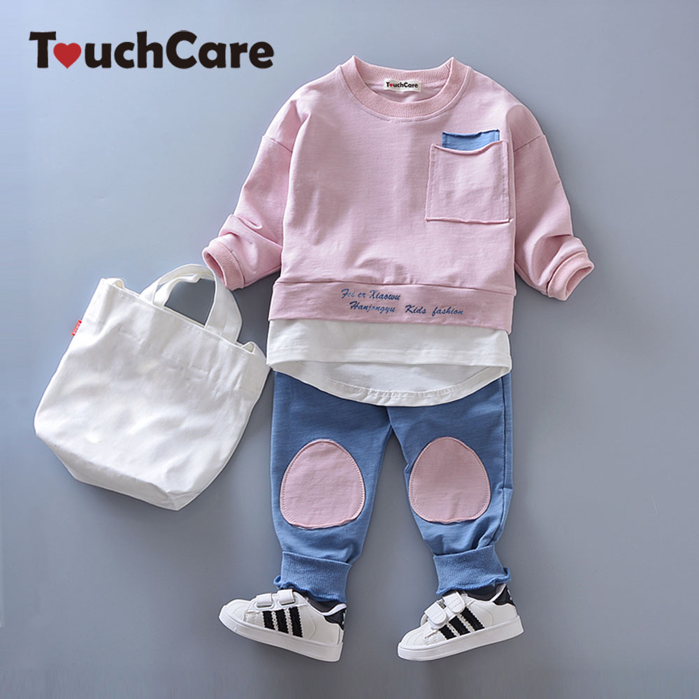 TouchCare 2pcs Kids Clothing Sets Children Boys Girls Clothes Baby Long Sleeve T-shirt Pants Tracksuits Boy Outfit Sports Suits