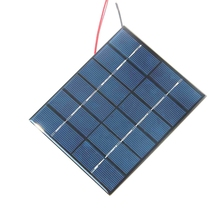 BUHESHUI 2W 6V Mini Solar Cell With Cable Polycrystalline Solar Panel DIY Solar Charger For 3.7V Battery 136*110MM Free Shipping