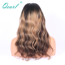 130% Ombre 1B/4 Highlights27# Blonde Remy Human Hair FUll Lace WIg Pre-Plucked Remy Wigs