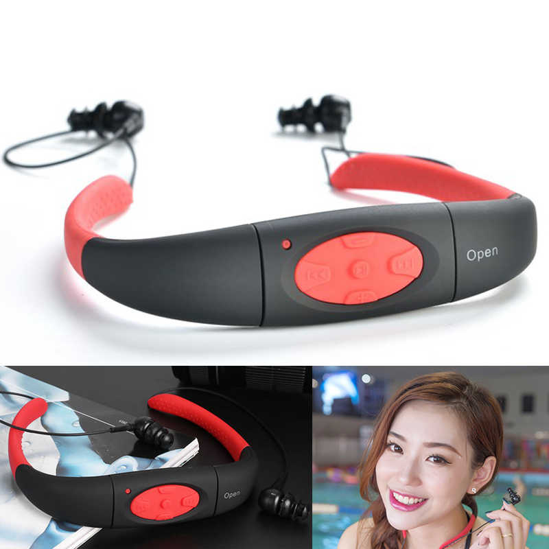 Espanson 8G Водонепроницаемый MP3 IPX8 музыкальный плеер подводная спортивная Шейная гарнитура открытая плавательная Дайвинг fm-радио наушники стереонаушники