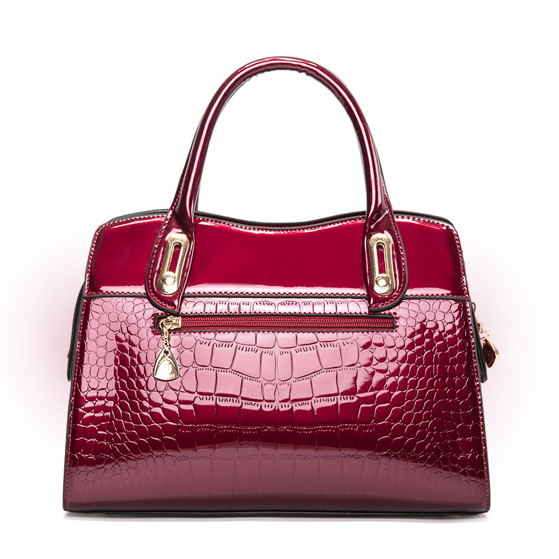 New Fashion Alligator Women Handbags High Quality Patent Leather Female Ladies Shoulder Bags Girl Luxury Brand Crossbody Bag цены онлайн