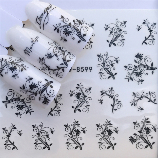 Nail Designs For Christmas 2019.Us 0 18 27 Off Ywk 2019 New Designs Flower Glitter Nail Sticker Water Transfer Animal Styles Christmas Series Nail Art Decals In Stickers Decals