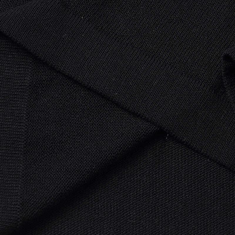 2XL ブランドニットスーツ 2019 春夏女性スーツ新カジュアルストライプセット O ネック Tシャツ + ワンステップスカート 2 ピーススーツ女性