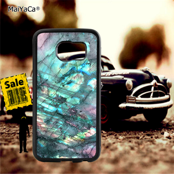 Labradorite moon stone soft TPU edge phone cases for samsung s6 plus s7 s8 s9 note5 note8 note9 cover case