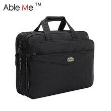 Großen Laptop-tasche Durable Klassisches Geschäftsleute Aktentasche Große Kapazität Portable Handtasche Schwarz Oxford Aktentasche Laptop-tasche Für Männer
