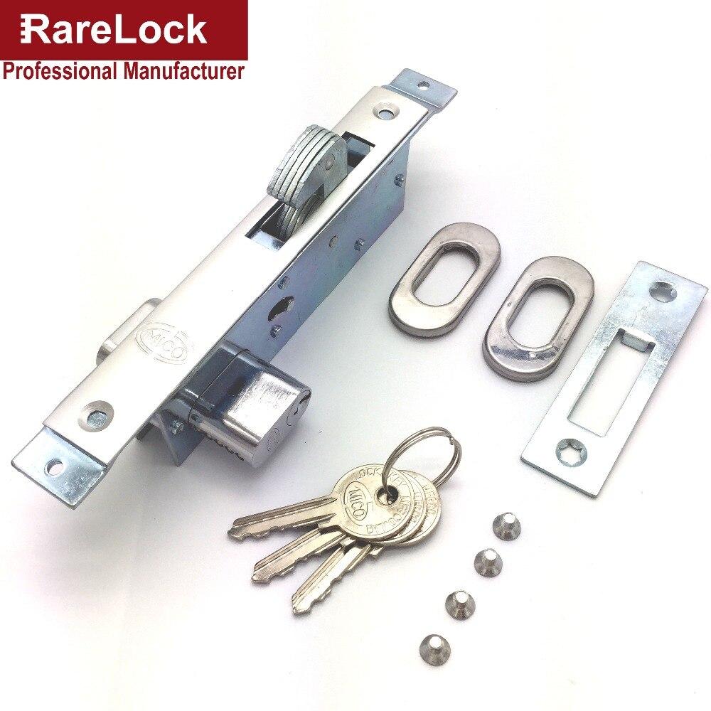 Bathroom sliding door lock - Rarelock Christmas Supplies Sliding Door Lock With 3 Keys For Bedroom Bathroom Accessory Diy Home Hardware