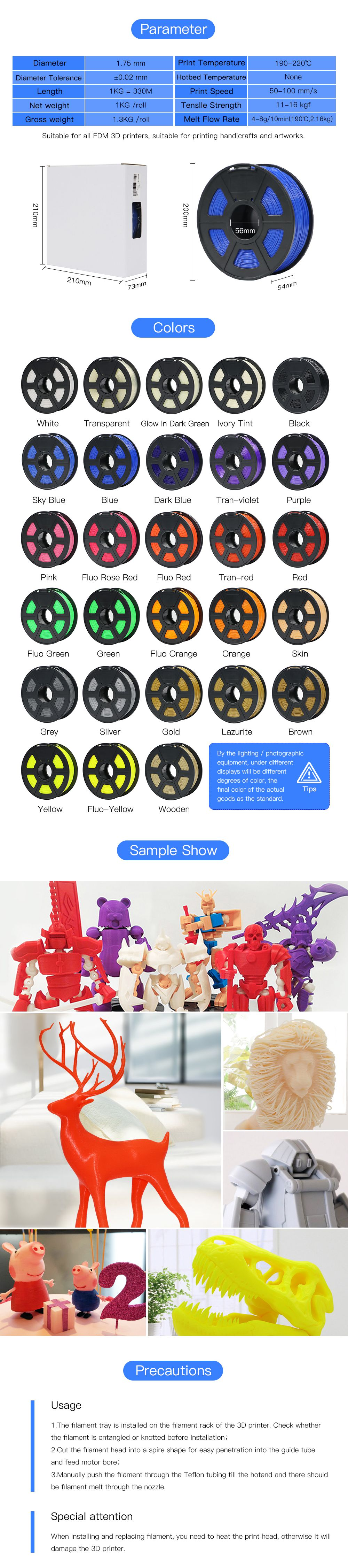 Anycubic PLA 3D Printer Filament 2