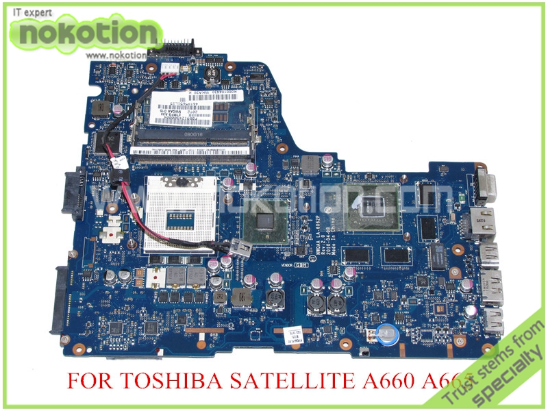 NOKOTION LA-6062P REV 2.0 K000104430 For toshiba satellite A660 A665 Laptop motherboard HM55 GeForce GT330M for toshiba for satellite a665 a660 laptop motherboard nwqaa la 6062p k000106380 hm55