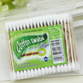 100pcs Pack Disposable Baby Cotton Swabs Sterility Two Head Wood Stick Cotton Pad Ear Clean Tools