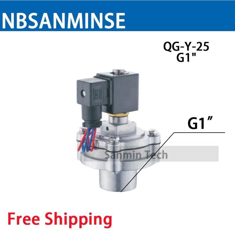все цены на NBSANMINSE QG - Y - 25 Replaced GOYEN G1 Diaphragm Valve Dust Collector Pulse Jet Valve Solenoid Valve онлайн