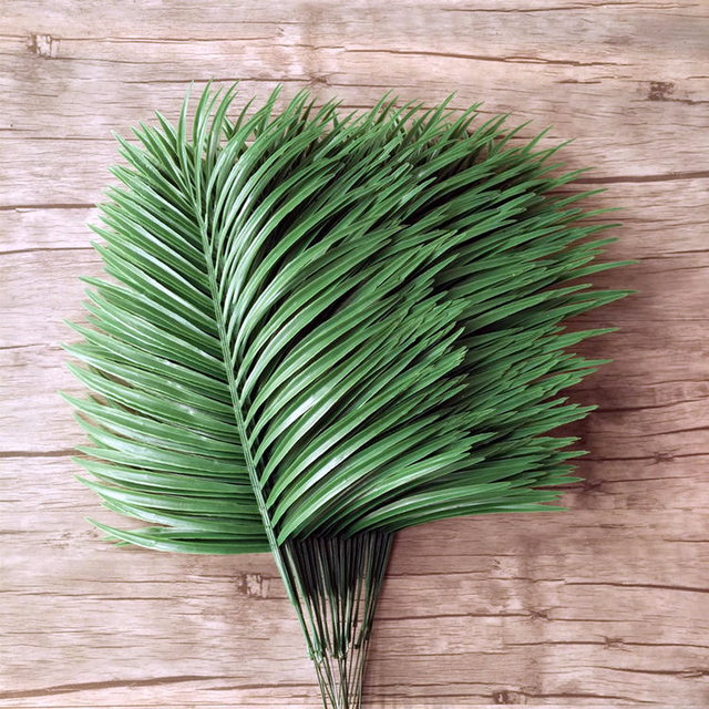 Artificial Bamboo Coconut Palm Plant Tree Leaf Branch Frond Wedding Garden  Outdoor Decor Fake Green Leaves