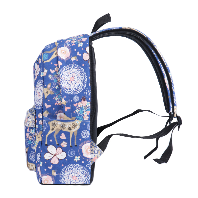 CIKER mignon femmes école sac à dos cerf Animal motif impression grande capacité sac de voyage filles collège Bookbag Mochilas sacs à dos - 3