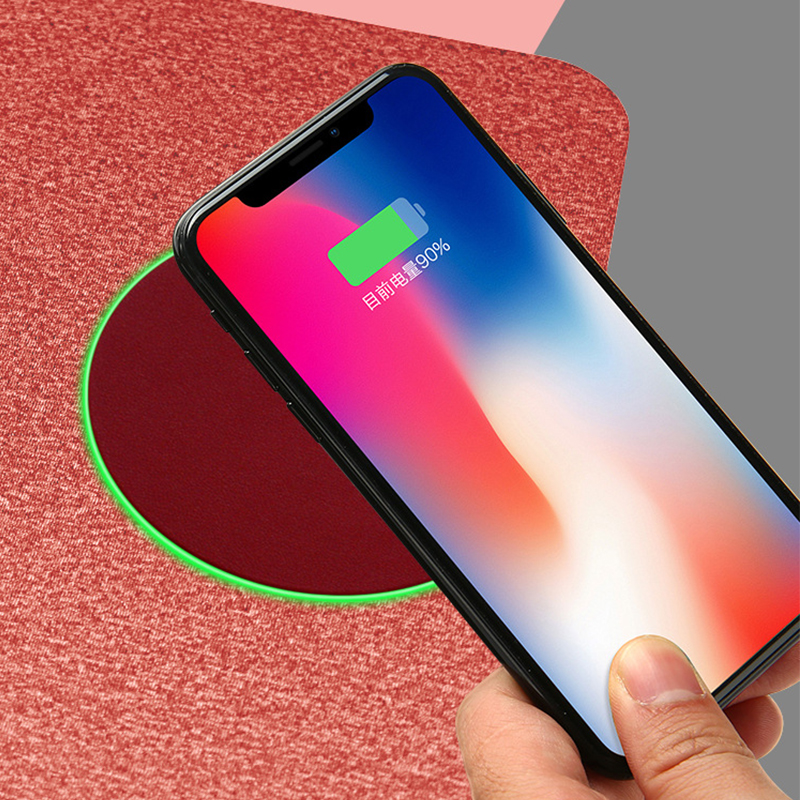10W Wireess Charge Mousepad Fast Charging Mouse Mat Qi Standard Phone Wireless Charger Cloth Fiber Mice for Computer Laptop in Mouse Pads from Computer Office