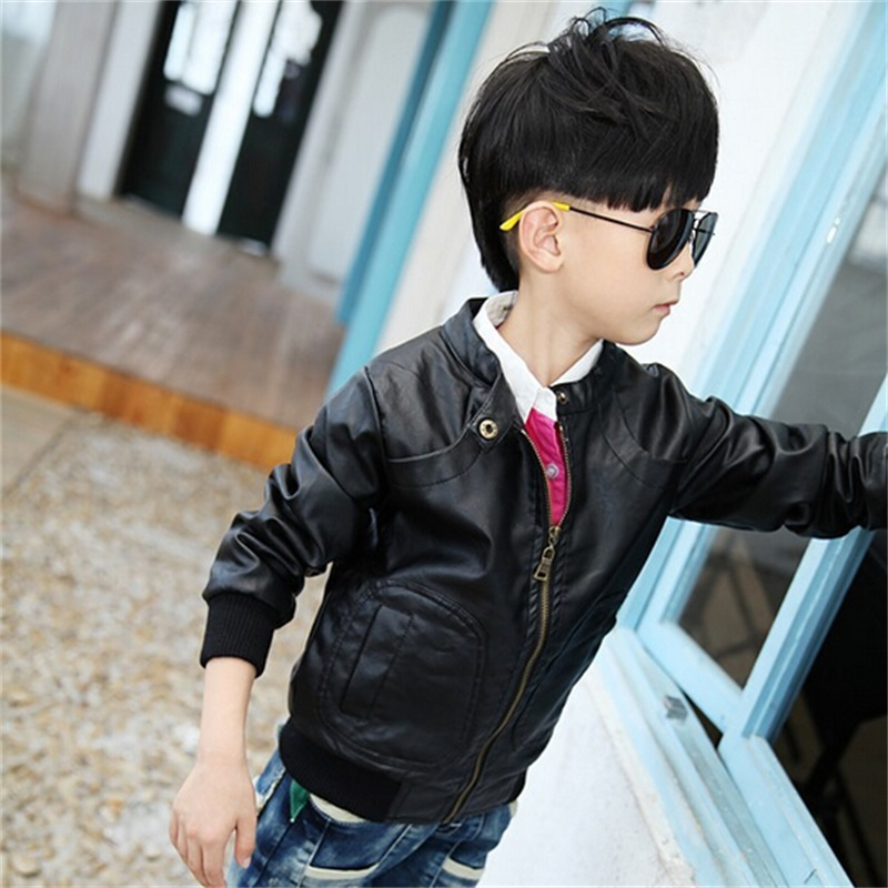ФОТО Kids Motorcycle Jacket Thicken Kids Winter Clothes Warm Baby Boy Coat Fashion Motorcycle Soft Jacket