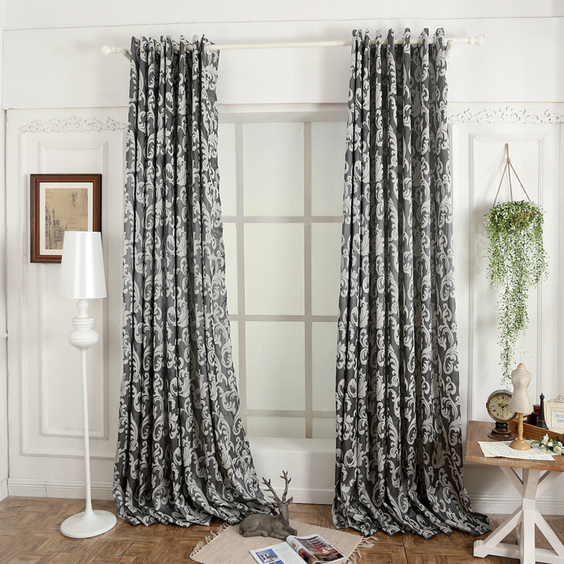 NAPEARL-cortina de ventana semiopaca 3D de estilo europeo, para sala de estar, cocina, moderna, 1 pieza
