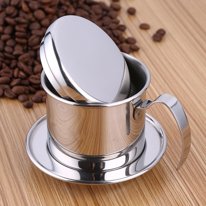 Stainless Steel Vietnam Coffee Pour Over Dripper Filter Coffee Maker Drip Coffee Filter Pot Single Cup Brewer Press Percolator Coffee Filter Pot Filter Coffee Makerdrip Coffee Filter Aliexpress