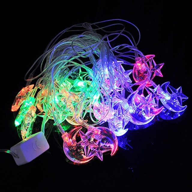 Aliexpress.com : Buy 4M 20 led RGB string lights star with moon ...