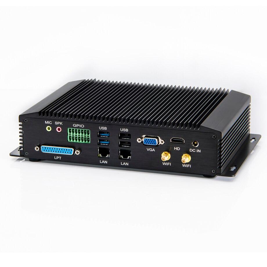 Industrie PC Intel i7 4500U 5500U i5 4200U 4300U Fanless Mini PC mit 2 * Intel Lans 6 * COM GPIO LPT HDMI VGA 8 * USB WiFi 3G/4G