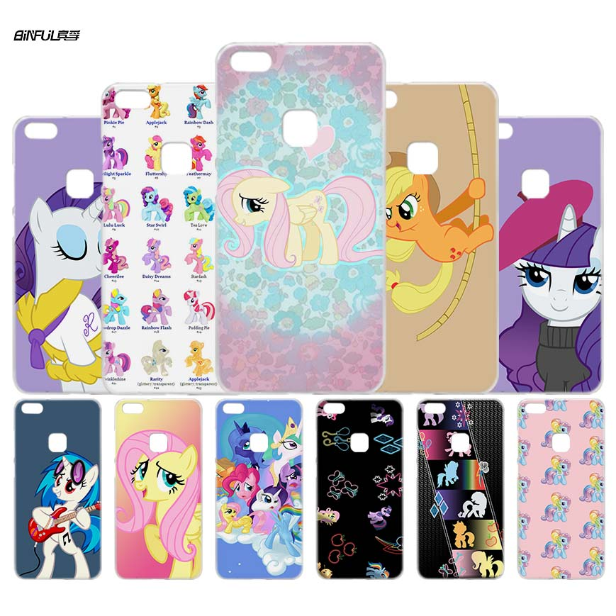 BiNFUL my little pony Clear Case Cover Shell for Huawei P 6 10 9 8 Lite 2017 honor8 Lite Mate 8 10 Lite 10Pro ...