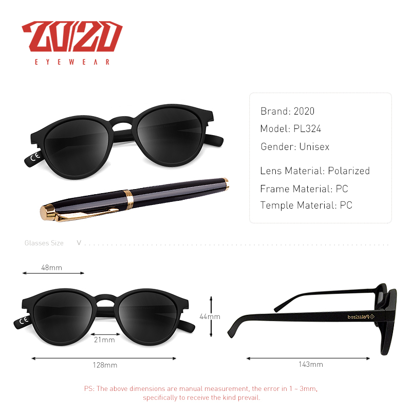 26ed6936ad Άνδρες   s γυαλιά 20 20 Brand Design New Classic Polarized Sunglasses Men  Driving Round Sun Glasses Unisex Vintage Shades Eyewear for Women PL324