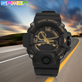 2016 Новая Мода Спорт Super Cool мужская Кварцевые Цифровые Часы Спортивные Водонепроницаемые Часы СВЕТОДИОДНЫЕ Военный Dual Time Наручные Часы