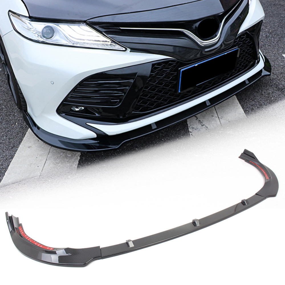 Carbon Fiber Car Front Bumper Lip Cover Trim For Toyota Camry 2018 SE Only 3PCS