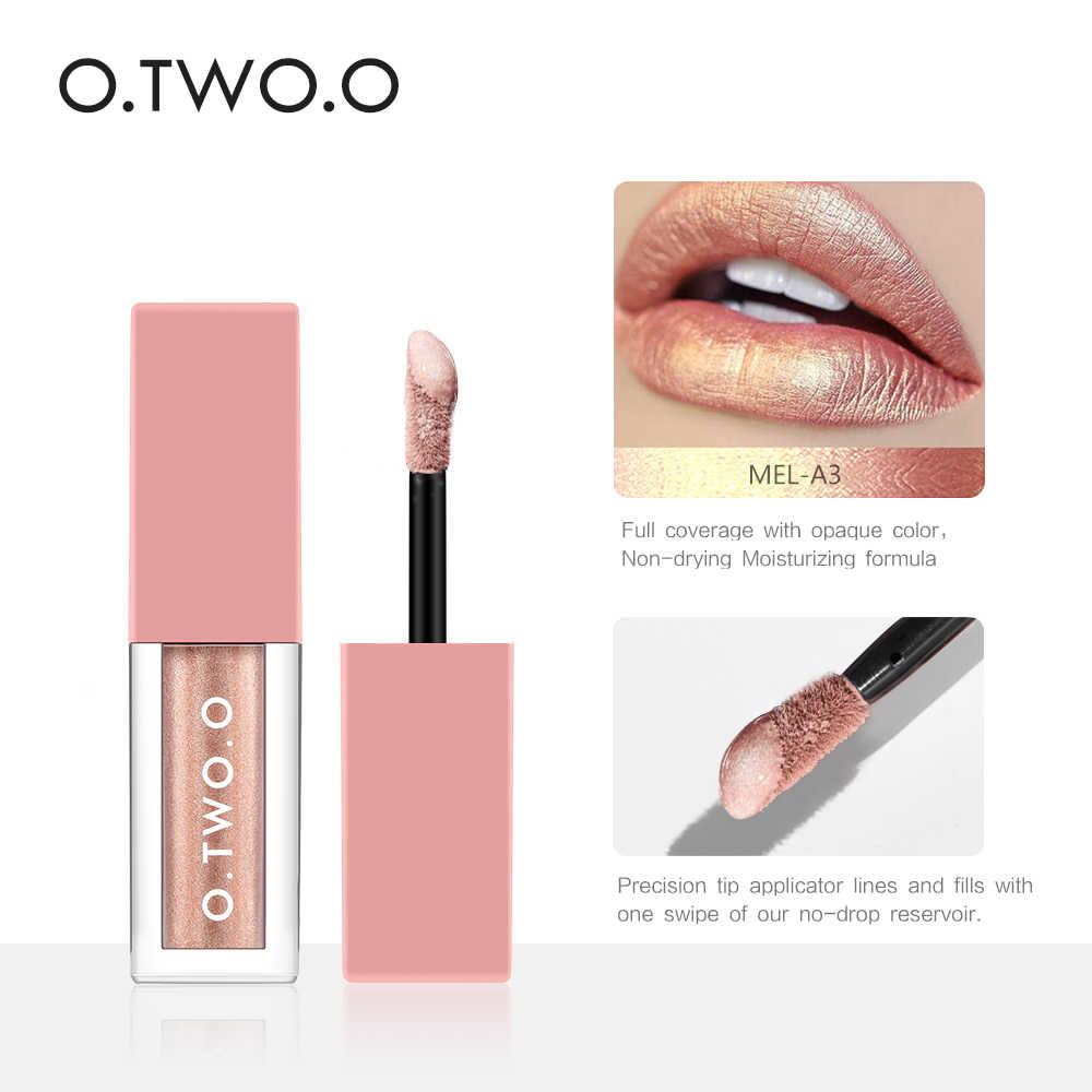 O. TWO. O 4 цвета матовый мерцающий жидкий набор блесков для губ долговечная жидкость губная помада batom блеск для губ ТИНТ макияж набор