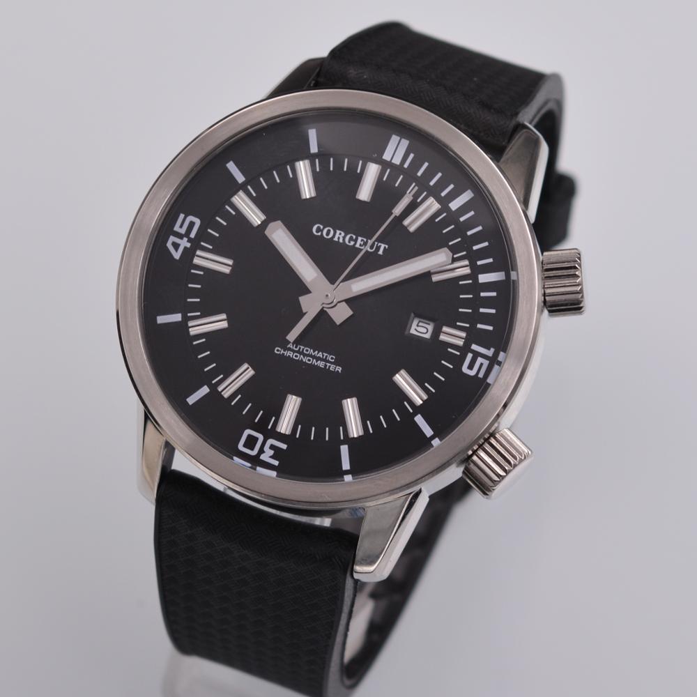 Corgeut Automatic Watch Men date Mechanical Watches Sport Luxury Brand Waterproof Self Winding Wristwatches Relogio Masculino