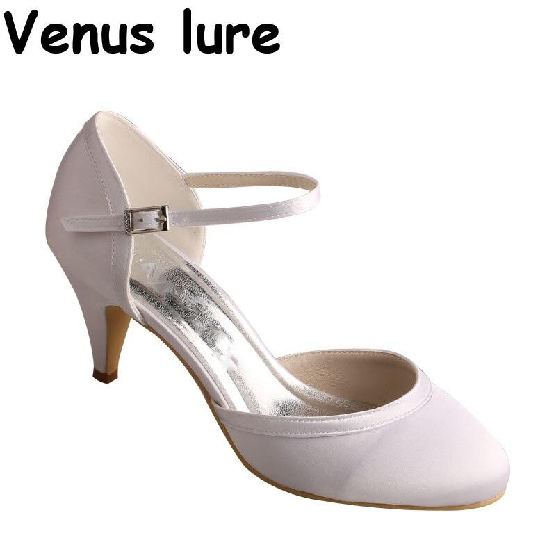 Handmade Closed Toe Wedding Shoes White