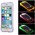 Anti-batida caso luz led flash para apple iphone 7/7 plus Air Cushion Cantos Caixa de Proteção TPU Macio Capa para iPhone6 6 sPlus