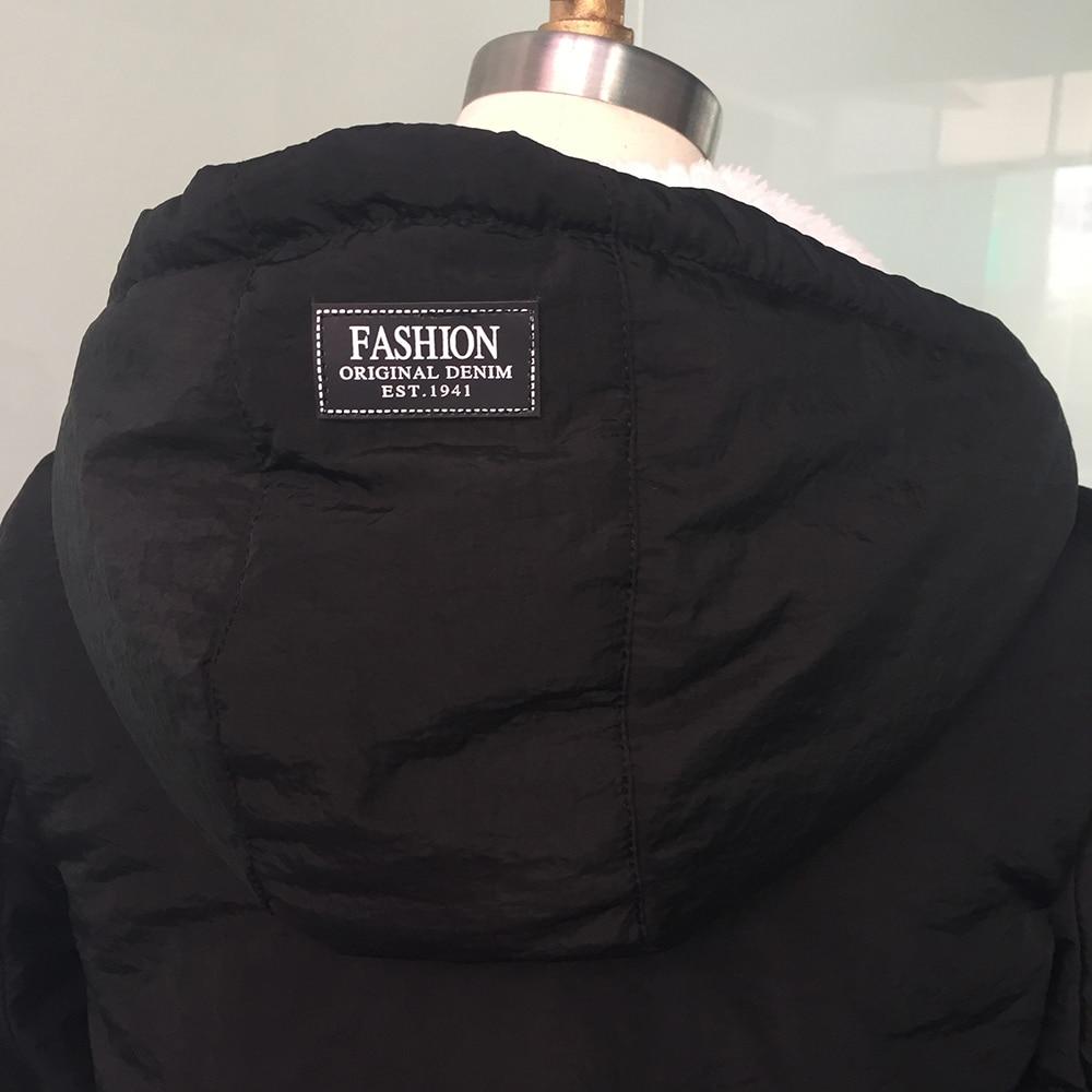 Winter Warm Coat Female Windproof Slim Outerwear Fashion Elastic Waist Zipper Pocket Hooded Drawstring Overcoats Autumn Clothes 5
