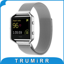 23mm Milanese Loop Band for Fitbit Blaze Smart Fitness Watch Stainless Steel Magnetic Closure Bracelet Replacement Link Strap