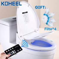 KOHEEL smart toilet seat cover led light remote smart toilet seat heating bidet toilet seat bathroom intelligent toilet seat lid