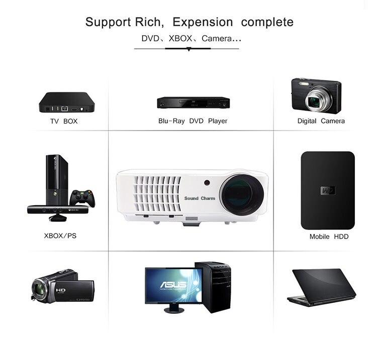 Zvuk zvuka Najveći LED svjetlovodni projektor Full HD LED, projektor - Kućni audio i video - Foto 5