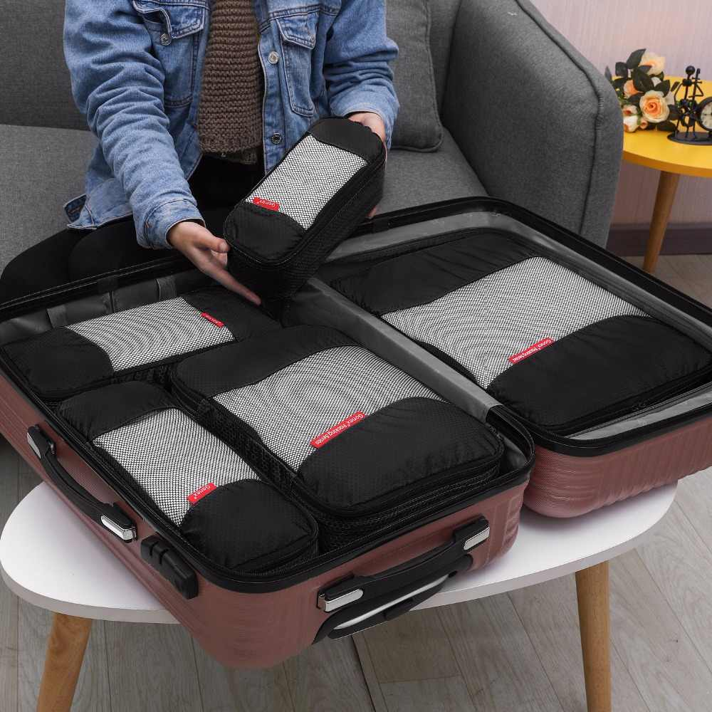 205b9135d3e2 Gonex 4pcs/Set Nylon Travel Organizer Hanging Ziplock Storage Bags Pouch  for Luggage Suitcase Clothes Shoes Packing 6 Colors