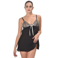 Ladies Lingerie Sexy Polyester Nightgown Summer Home Dress Women Lace Babydoll