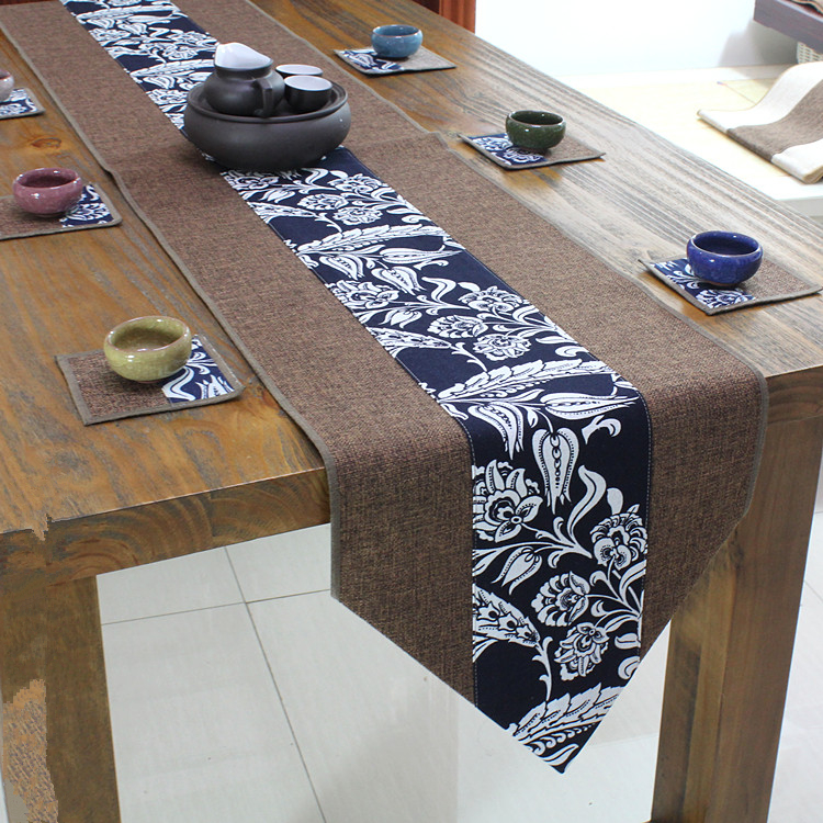 Dining Room Table Runner: Latest Sharp Corners Patchwork Table Runner Cotton Linen