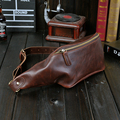 Estilo Vintage Pequeno Saco Da Cintura Dos Homens de Couro Pu Moda Carteira Saco Do Telefone Pacote de Cintura Ombro Ocasional Saco bolsa de Viagem À Prova D' Água