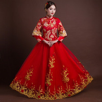 Plus Size 6XL Cheongsam Chinese Traditional Dress qipao Embroidery Oriental Dresses Wedding gowns Robe orientale vestido chino