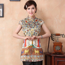 17abe967e42d4 Size S-4XL women Silk blouses Chinese traditional cheong-sam tops National female  shirts