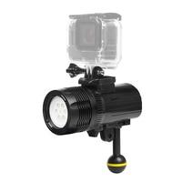 FGHGF 1000LM Underwater Diving Flashlight Torch Light For GoPro Hero 7 6 5 xiaomi mija 4 k sjcam Action Video Camera Accessory