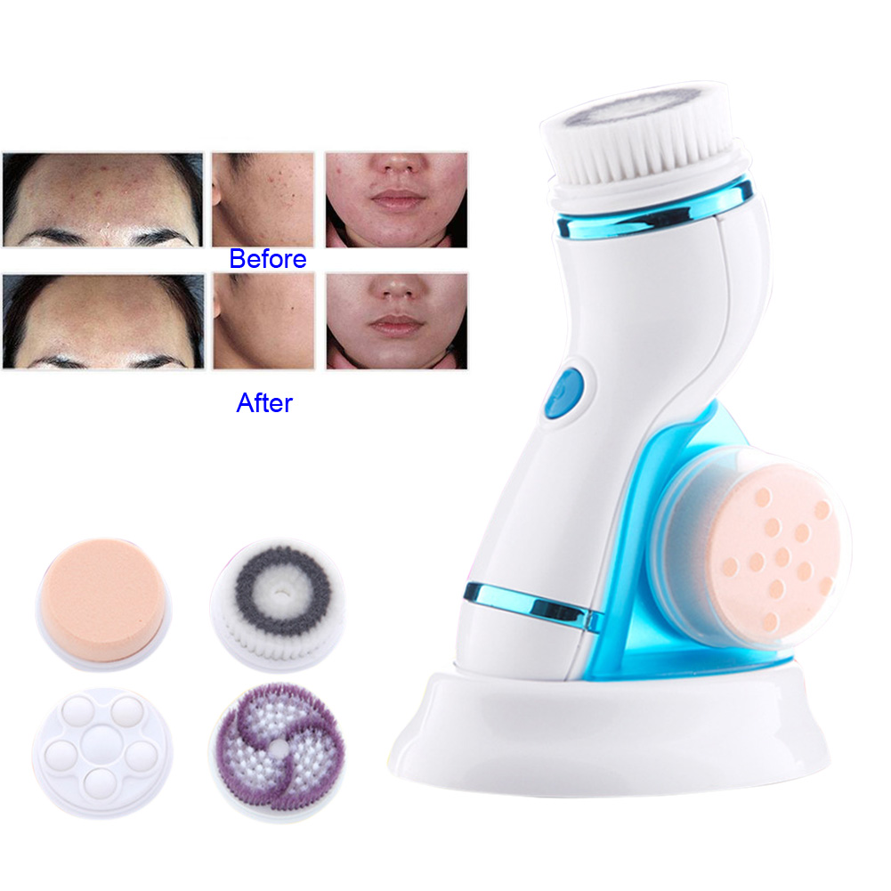 Professional Deep Facial Cleansing Brush Waterproof Sonic Spin Brushes with Brush Heads Exfoliating Clean System HS11