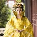 Династии тан королевской одежды хан тан принцесса императрица леди королева костюм великолепный хвост косплей