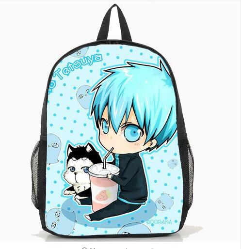 New Hot Unisex Kuroko no Basuke Bag Student School Bags Kuroko Tetsuya Anime Cosplay Backpack Free Shipping anime tokyo ghoul cosplay anime shoulder bag male and female middle school student travel leisure backpack