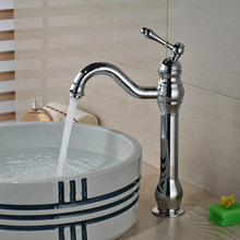 Chrome Finished Bathroom Beautifull Basin Sink Faucet Single Handle One Hole with Hot Cold Mixer Taps