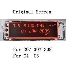 Автомобильный экран с поддержкой USB, AUX дисплей, красный монитор, 12 контактов, подходит для дисплея 307, 207, 308, 408, 3008, C4, C5