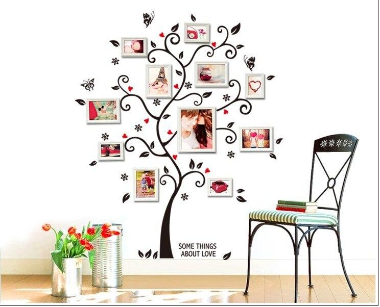 ̿̿̿(•̪ )120*100 cm tamaño grande foto de familia Marcos árbol pared ...